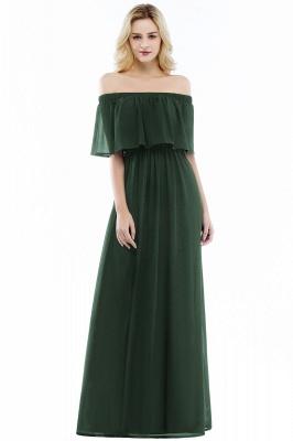 Cheap Off the Shoulder Floor Length Chiffon Bridemaid Dresses_4