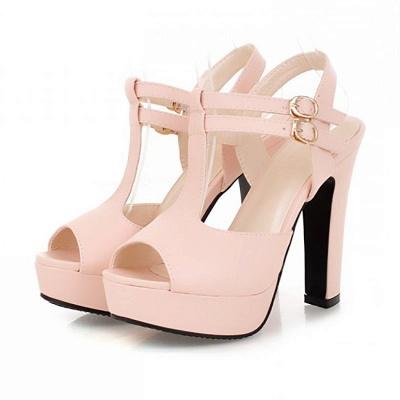 Platform Buckle Date Peep Toe Women Summer Sandals_1