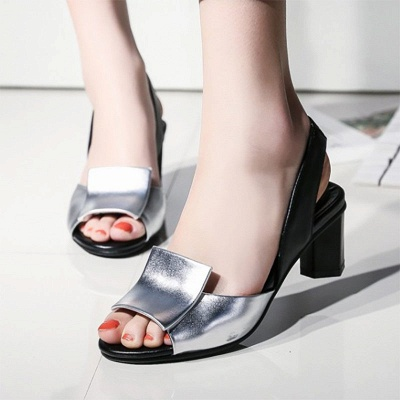 Daily Peep Toe Chunky Sandals_2
