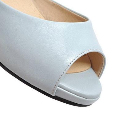 Date Buckle Peep Toe Sandals_6