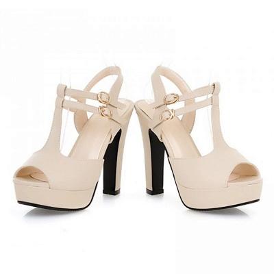 Platform Buckle Date Peep Toe Women Summer Sandals_5