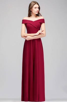 A-line Off-the-Shoulder Long Burgundy Evening Gowns_6