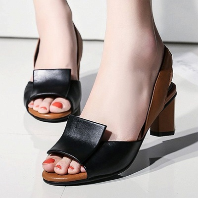 Daily Peep Toe Chunky Sandals_1
