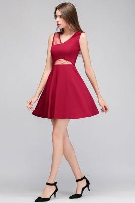 Cheap A-line Sleeveless Short V-neck Tulle Neckline Homecoming Dress in Stock_6