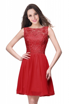 Cheap Short Chiffon Homecoming Dresses   Affordable Knee Length Chiffon Lace Party Dresses_1