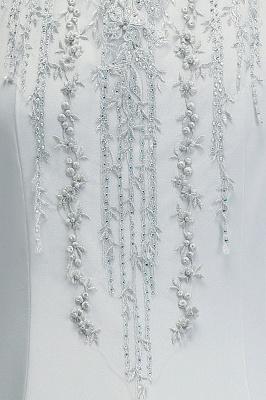 Elegant Cap-Sleeves Beading Sheer-Neck Mermaid Bridesmaid Dresses_7