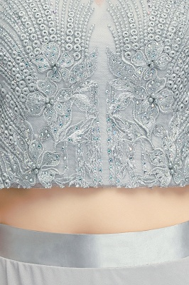 Appliques Two-Pieces Silver Exquisite A-Line Chiffon Bridesmaid Dresses_6