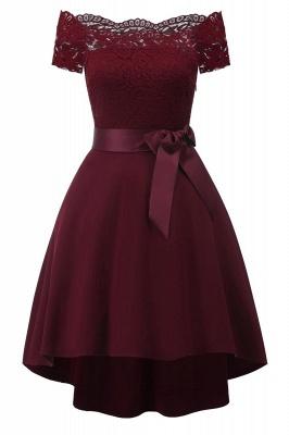 Cocktail Dresses Simple A-Line lace Elegant Summer Lace Dress-FS4035_3