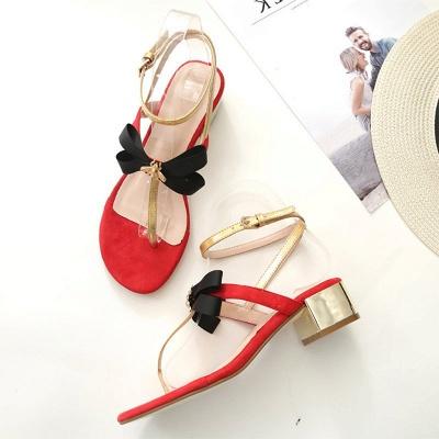 Buckle Bowknot Flip-flops Sandals_6