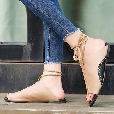 Braided Strap Daily Flat Heel Sandals_9