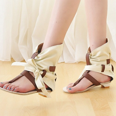 Daily Hollow-out PU Summer Sandals_4