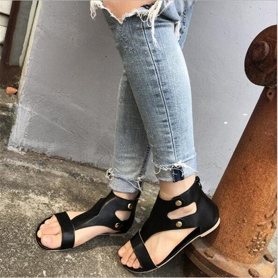 Summer Ankle Strap Women Flat Shoes_2