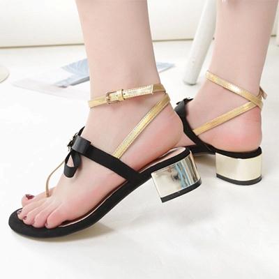 Buckle Bowknot Flip-flops Sandals_8