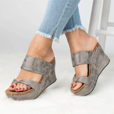 Large Size Slip On Thong Wedge Wedge Sandals_12