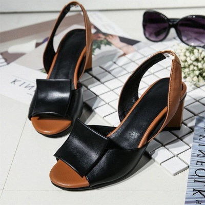 Daily Peep Toe Chunky Sandals_6