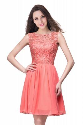 Cheap Short Chiffon Homecoming Dresses   Affordable Knee Length Chiffon Lace Party Dresses_10