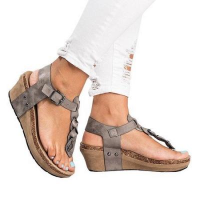 Summer Daily PU Braided Strap Sandal_10