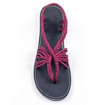 Summer Braided Daily Flip-flops Sandals_1
