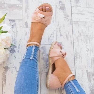 Ankle Strap Flats Lace Up Shoes Suede Espadrilles Sandals_9