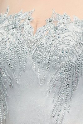 Elegant Cap-Sleeves Beading Sheer-Neck Mermaid Bridesmaid Dresses_6