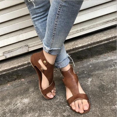 Summer Ankle Strap Women Flat Shoes_6