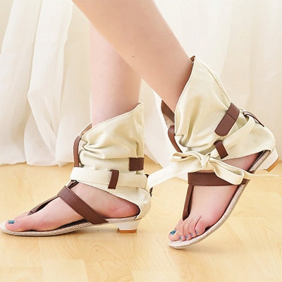 Daily Hollow-out PU Summer Sandals_1