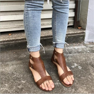 Summer Ankle Strap Women Flat Shoes_8