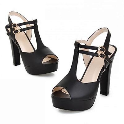 Platform Buckle Date Peep Toe Women Summer Sandals_3