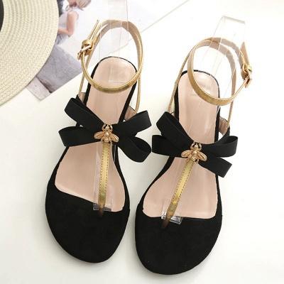 Buckle Bowknot Flip-flops Sandals_2