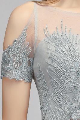 Appliques Two-Pieces Silver Exquisite A-Line Chiffon Bridesmaid Dresses_8