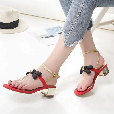 Buckle Bowknot Flip-flops Sandals_9