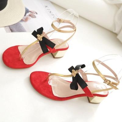 Buckle Bowknot Flip-flops Sandals_4