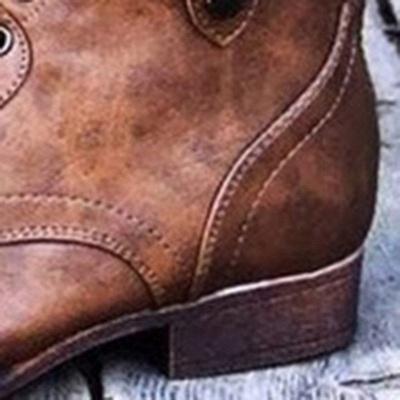 Peep Toe PU Daily Summer Chunky Sandals_4
