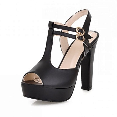 Platform Buckle Date Peep Toe Women Summer Sandals_9