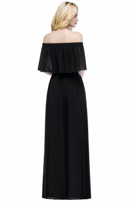 Cheap Off the Shoulder Floor Length Chiffon Bridemaid Dresses_2