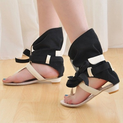 Daily Hollow-out PU Summer Sandals_7