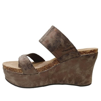 Large Size Slip On Thong Wedge Wedge Sandals_7