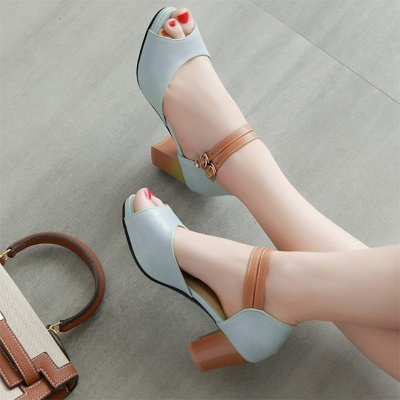 Date Buckle Peep Toe Sandals_12