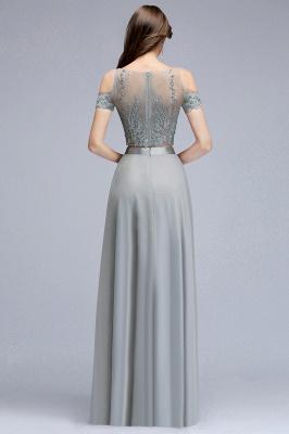 Appliques Two-Pieces Silver Exquisite A-Line Chiffon Bridesmaid Dresses_4