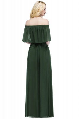 Cheap A-line Off-the-Shoulder Chiffon Bridesmaid Dress in Stock_9