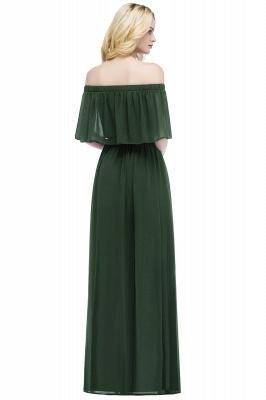 Cheap Off the Shoulder Floor Length Chiffon Bridemaid Dresses_5