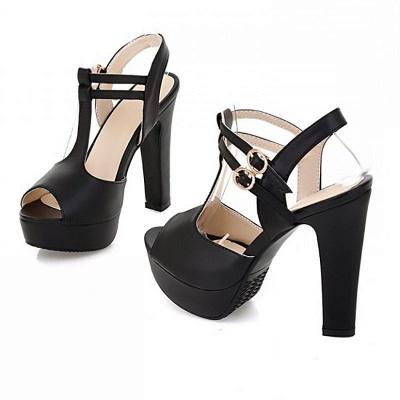 Platform Buckle Date Peep Toe Women Summer Sandals_11