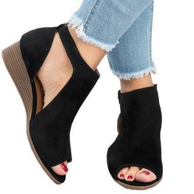 New Adjustable Buckle Casual Wedges Summer Sandals_6