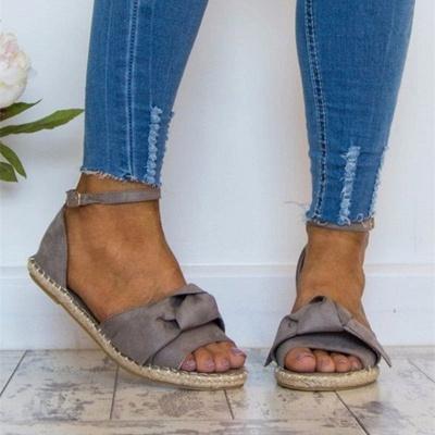 Ankle Strap Flats Lace Up Shoes Suede Espadrilles Sandals_3