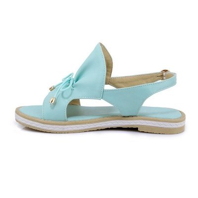 Peep Toe Bowknot Comfortable Summer Hollow-out Casual Sandals_10