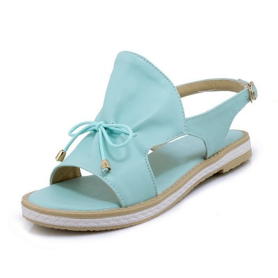 Peep Toe Bowknot Comfortable Summer Hollow-out Casual Sandals_2