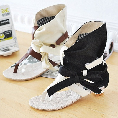 Daily Hollow-out PU Summer Sandals_2