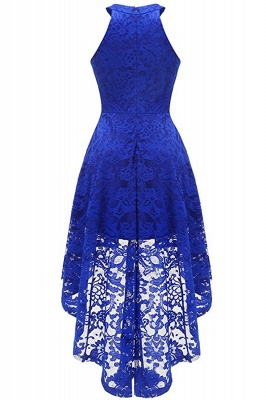 Lace Dress Female Robe Casual 1950s Rockabilly High Low Sleeveless Swing Summer Dresses_13