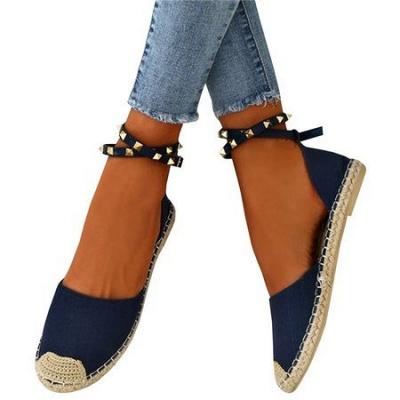 Comfortable Adjustable Buckle Rivet Sandals_16