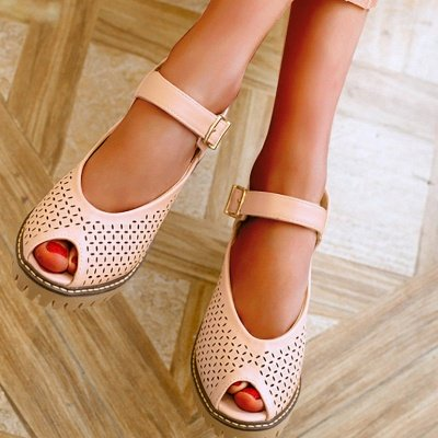 Peep Toe Platform Buckle Daily Chunky Sandals_13